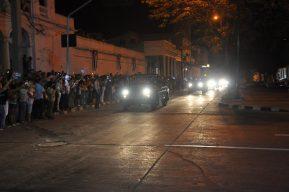 Cienfuegos recibió con dolor las cenizas de Fidel