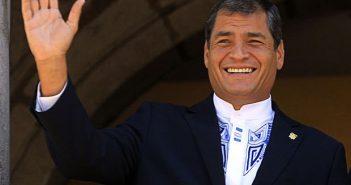Ecuadorian President Rafael Correa.