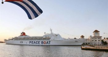 Peace Boat in Havana.