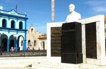 Monument to Perucho Figueredo in Bayamo, Cuba.