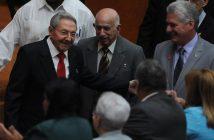 Raul Castro, Jose Ramon Machado Ventura and Miguel Diaz-Canel.