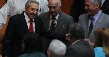 Raul Castro, Jose Ramon Machado Ventura and Miguel Diaz-Canel.