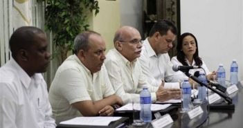 Press conference of the Central Bank of Cuba, 2018.