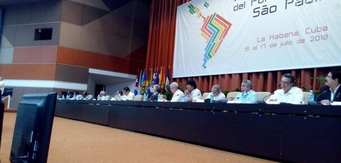 Cuban President Attends Final Session of Sao Paulo Forum