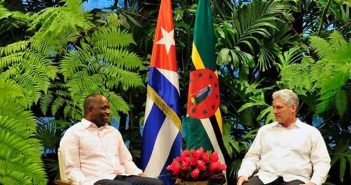 The President of Cuba, Miguel Diaz-Canel Bermudez, and Prime Minister of Dominica, Roosevelt Skerrit.