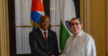 Bruno Rodriguez Received the Chancellor of Lesotho.