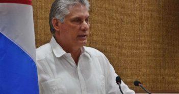 The Cuban President, Miguel Diaz-Canel Bermudez