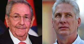 Raul Castro and Miguel Diaz-Canel.