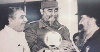 Gabriel Garcia Marquez, Fidel Castro and Fernando Birri.