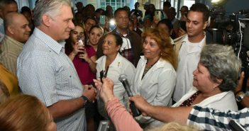 The Cuban people can beat everything, Diaz-Canel says.