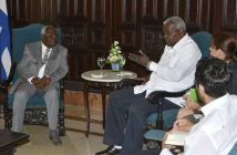 President of Cuban Parliament receives Vice President of Zanzibar.