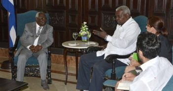 President of Cuban Parliament receives Vice President of Zanzibar.