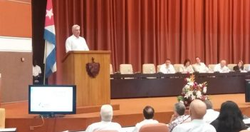 Diaz-Canel attends BioCubaFarma annual balance.
