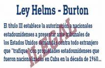 Cuba refuses activation of Title III of Helms-Burton Act.