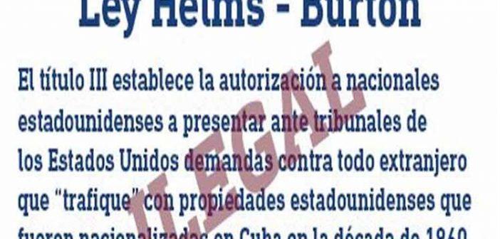 Cuba Refuses Activation of Title III of Helms-Burton Act