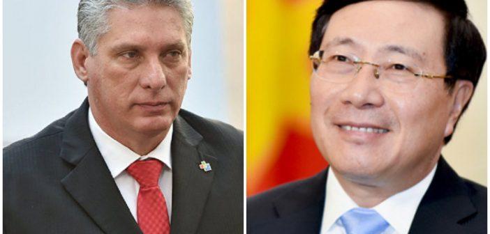 Díaz-Canel recibirá a viceprimer ministro de Vietnam