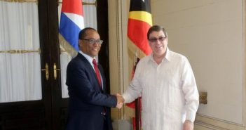 Chancellor of Cuba in conversation with Timor-Leste and Myanmar officials
