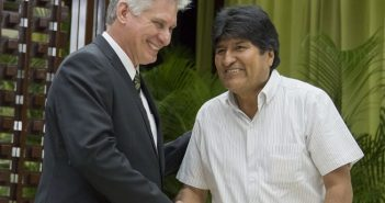 President of Cuba ratifies endorsement of Evo Morales