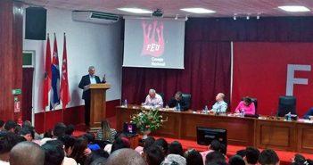 President of Cuba participates in FEU National Council