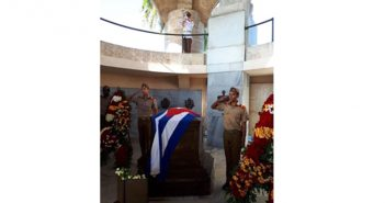 They pay tribute to National Hero Jose Marti