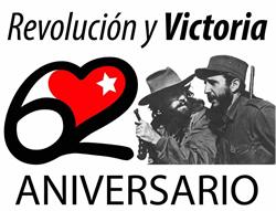 Aniversario 62 de la Revolución Cubana