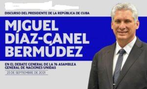 Presidente cubano interviene en el Debate General de la ONU
